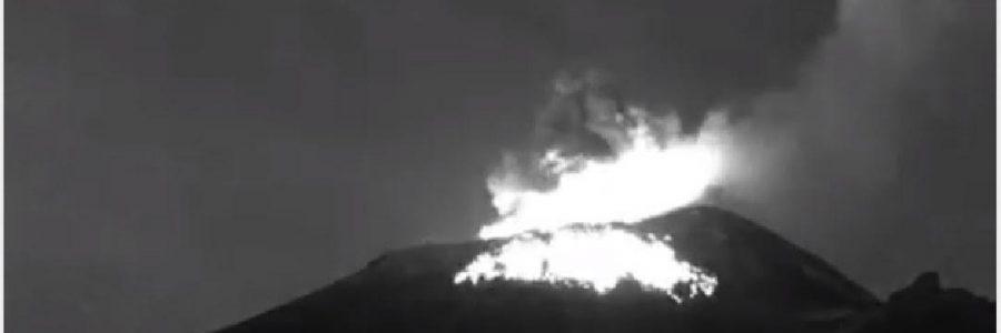 Popocatépetl presenta 153 exhalaciones en las últimas horas