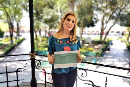 Erika de la Vega, quedó registrada en el PAN