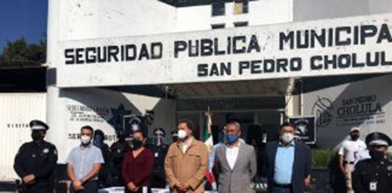 Consejo de Seguridad Pública dona caretas a policías