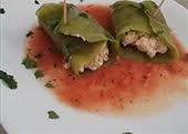 Tacos de nopal rellenos de requesón