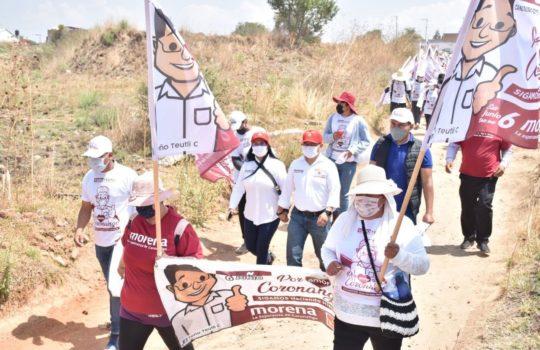 Continuaremos mejorando los servicios públicos en Coronango: Toño Teutli