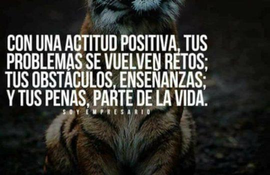 Siempre se Debe Tener Actitud Positiva