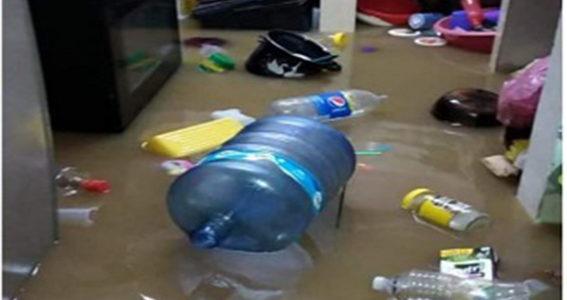 En juntas auxiliares, daños por lluvia