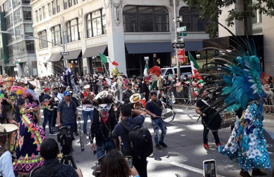 Paisanos festejan Grito de Independencia en N. Y.