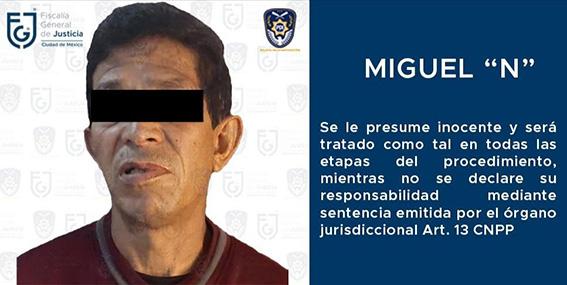 Detienen a presunto violador serial relacionado con al menos 27 ataques sexuales en CDMX